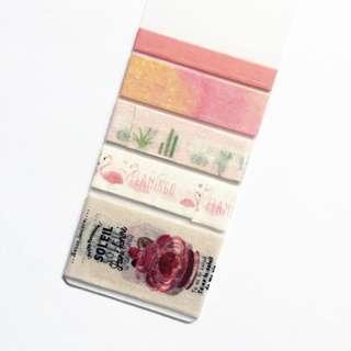 Pink Themed Washi Tape Sample