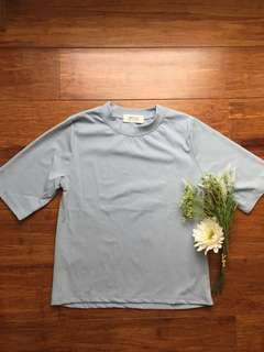 Light blue gray shirt