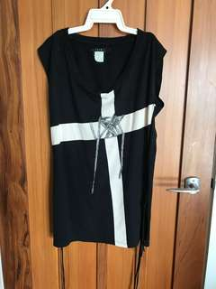 Ksubi cross top/dress