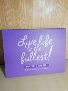BDJ Live the life to the fullest Monthly Calendar