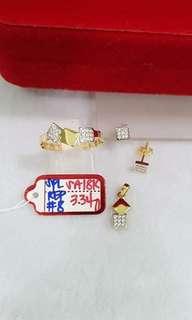Pure gold lady's jewelry set