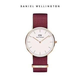 Daniel Wellington Watch 40mm white classic all NATO strap colour avail