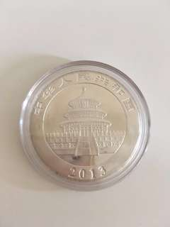China Panda 2013 Silver Coin 1/2 oz