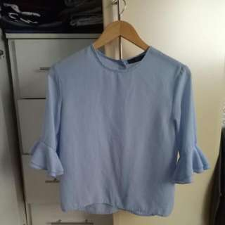 Zalora Shirt With Bell Sleeves