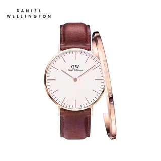 Daniel Wellington Watch 36mm all colour strap avail + cuff