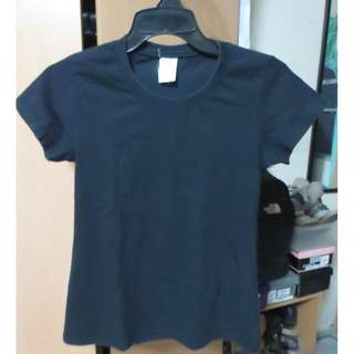 Plain Black Round Neck Shirt