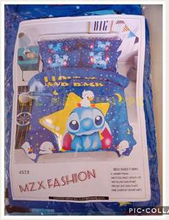 Stitch 6 in 1 Bedsheet with Comforter