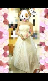 象牙白拖尾婚紗 pre wedding #mayflashsale