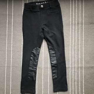 H&M black leather legging