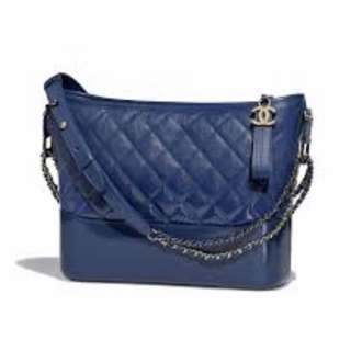 代放Chanel Gabrielle Hobo Medium blue
