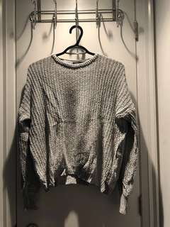 Brandy Melville Sweater (Marled Grey)