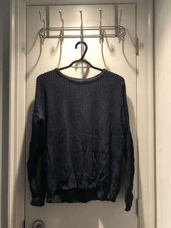 Brandy Melville Sweater (Navy Blue)