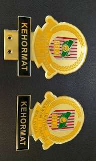 RELA KEHORMAT Emblem Logo Badge Gold Plated