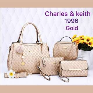 CHARLES & KEITH 4in1 HANDBAG // GRED 3A // 001