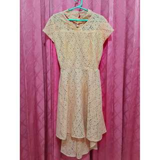 Gaun Pesta Gaun Gereja Gaun Murah Simple Dress Brown