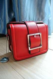 代理T.U. Handbag Korea Style Red Sharp  韓系 女裝 手袋 女包 小包 型格 紅色 輕便易襯 201