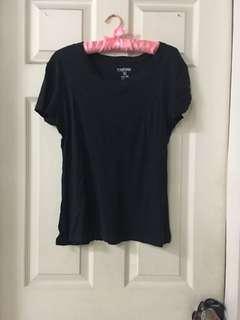 Plain dark blue shirt