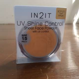 In2it uv shine control face powder
