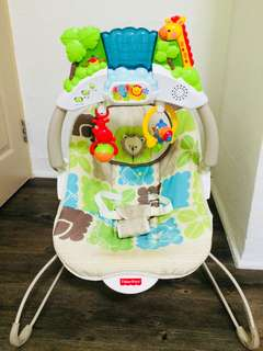 Fisher Price Deluxe Baby Bouncer, Rainforest Friend