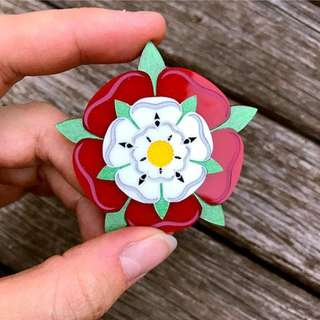 🇬🇧NEW🇦🇺 BLUE RAVEN Tudor Rose Brooch / Pendant