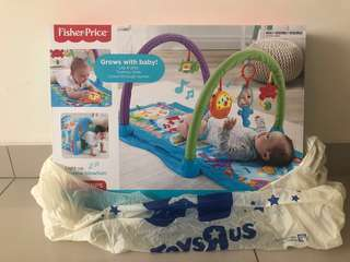 Fisher price kick n crawl musical seahorse playgym