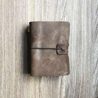 📕📕📕📕 INSTOCKS  Real Leather  🍫Chocolate Brown🍫 Midori Styled Traveler's Notebook, Planner, Journal Passport Size (Can be used as a Passport Holder)