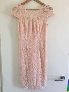 Review blush dress