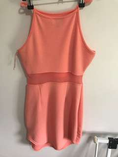 Baby pink peach dress