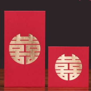 {PO} Wedding Red Packet/ Ang Bao Packet Double Happiness