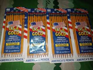 Write Dudes Usa Gold Premium Cedar Pencils #2 10ct