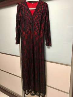Lace Dress (Red/Black) *reserved*