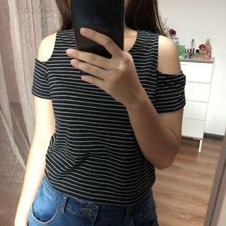 Cold Shoulder Crop Top