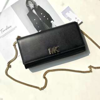 Michael Kors Turnlock Nappa Leather WOC / wallet On Chain - black