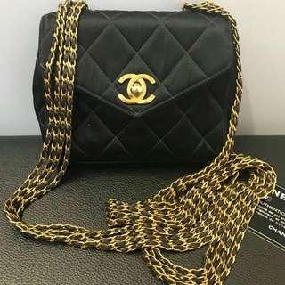 Chanel Vintage Extra Mini Satin Bag