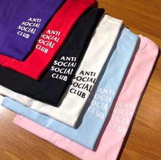 Anti Social Social Club 六色Tee (男女都著得)