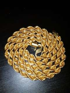 916 Hollow Gold Necklace