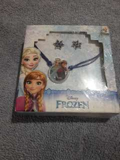 Disney Frozen Necklace and Earrings Set
