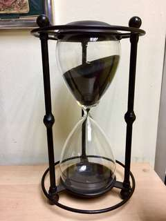 Large Metal Hour Glass