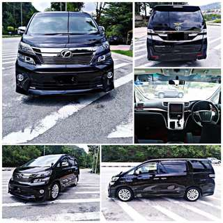 SAMBUNG BAYAR/CONTINUE LOAN  TOYOTA VELLFIRE 2.4 AUTO YEAR 2012/2016 MONTHLY RM 2050 BALANCE 6 YEARS 10 MONTHS ROADTAX VALID 7 SEATERS  DP KLIK wasap.my/60133524312/vellfire