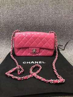 Chanel紅色漆皮20厘米96新