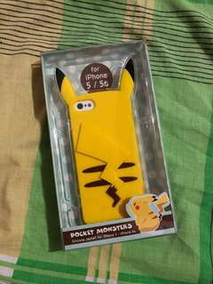 Original Pikachu Silicone Jacket Case for iPhone 5/5S