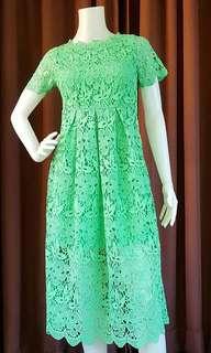 Green Guipure Lace Dress