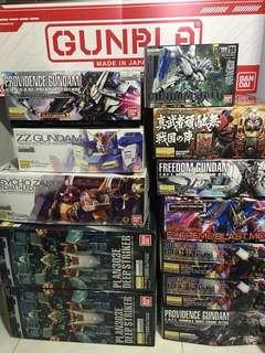 Restock - Bandai MG Gundam Kits