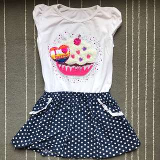 NO BRAND cup cakes Dress 5T