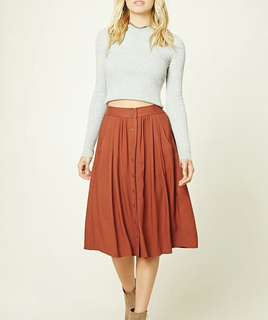 Forever 21 contemporary button front skirt