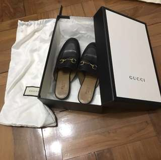 gucci leather princetown slipper