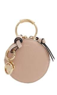 CHLOE Round mini leather coin purse