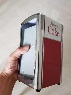 Vintage coke paper napkin dispenser