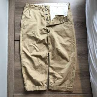 Workware Pilot chino Khaki 卡其斜褲 RRL Real MCCoys UES