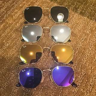 rayban Sunglasses rb3548 hexagonal ray ban brand new full packages original made in Italy